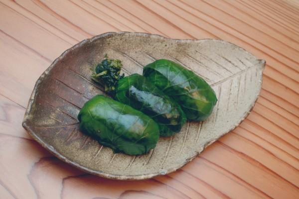 名物「わさび寿司」づくり体験と、自然の恵みの郷土料理